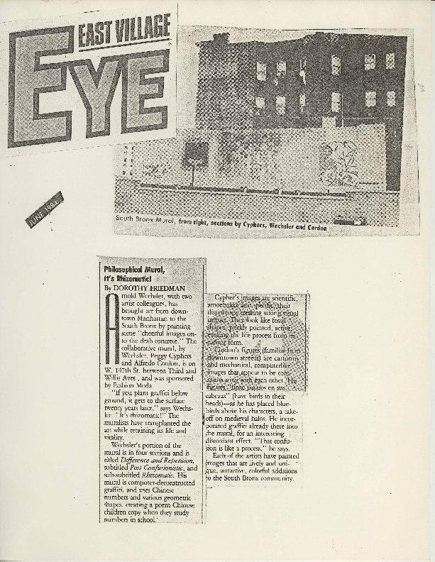 1984 East Village Eye