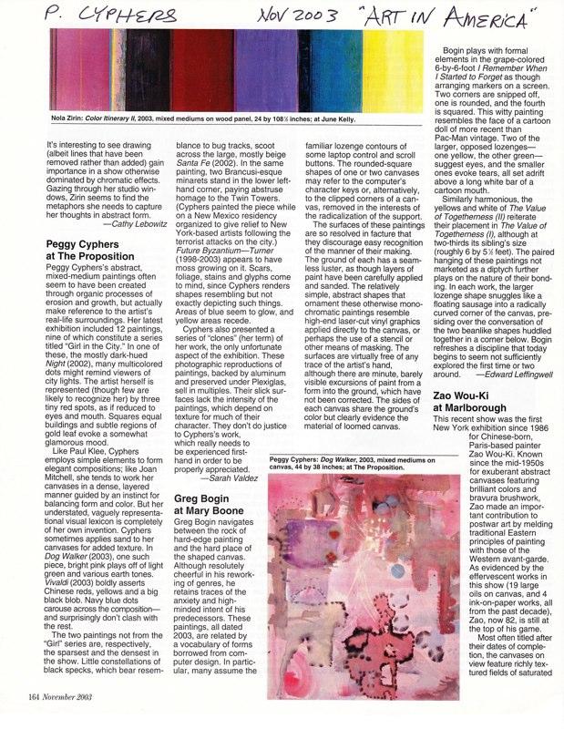 2003 Art in America
