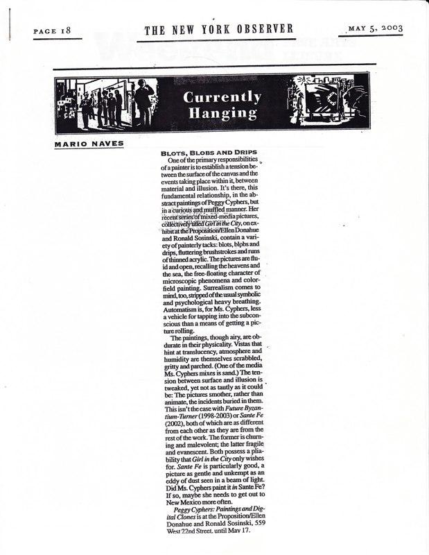2003 New York Observer